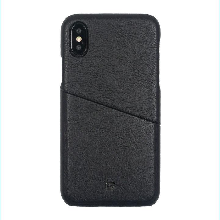 iPhone XS/X ケース アンティーク感ある合皮と味わい深いカラーがお洒落 ハードケース/ANTIQUE POCKET 2018 ブラック iPhone XS/X_0