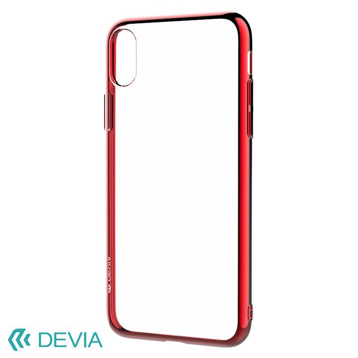 iPhone XS/X ケース フレームメッキの差し色が映える 超薄型TPUケース/Glitter soft case(TPU) 2018 レッド iPhone XS/X_0