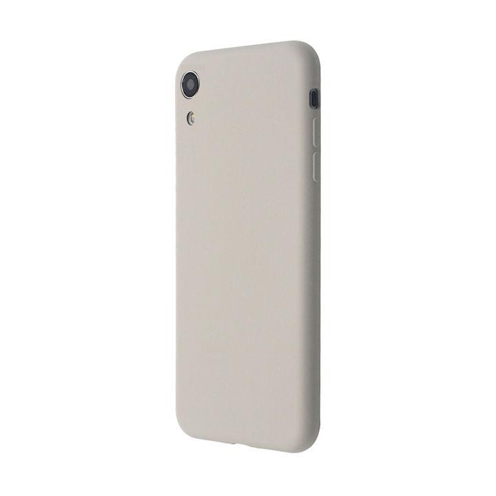 iPhone XR ケース 汚れに強い さらっとした肌触りのリキッドシリコンケース/EXTRA SLIM SILICONE ストーン iPhone XR_0