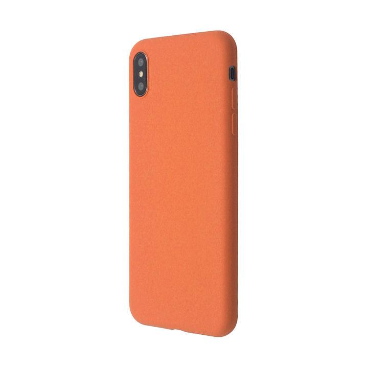 iPhone XS/X ケース 汚れに強い さらっとした肌触りのリキッドシリコンケース/EXTRA SLIM SILICONE ピーチ iPhone XS/X_0