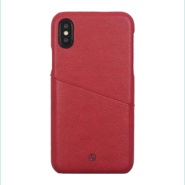 iPhone XS/X ケース アンティーク感ある合皮と味わい深いカラーがお洒落 ハードケース/ANTIQUE POCKET 2018 ワインレッド iPhone XS/X_0