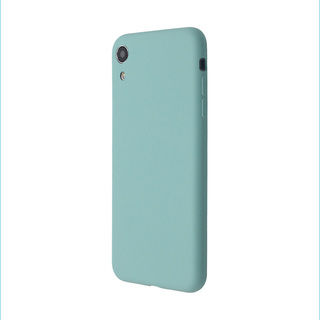 【iPhone XRケース】汚れに強い さらっとした肌触りのリキッドシリコンケース/EXTRA SLIM SILICONE シーブルー iPhone XR