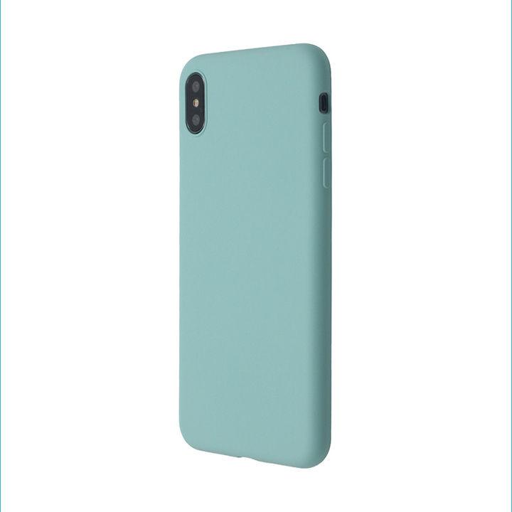 iPhone XS Max ケース 汚れに強い さらっとした肌触りのリキッドシリコンケース/EXTRA SLIM SILICONE シーブルー iPhone XS Max_0