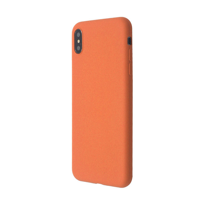 iPhone XS Max ケース 汚れに強い さらっとした肌触りのリキッドシリコンケース/EXTRA SLIM SILICONE ピーチ iPhone XS Max_0