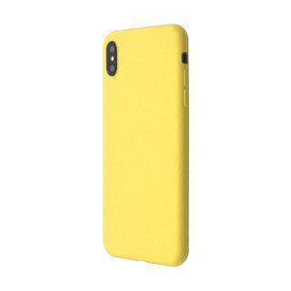 iPhone XS Max ケース 汚れに強い さらっとした肌触りのリキッドシリコンケース/EXTRA SLIM SILICONE イエロー iPhone XS Max