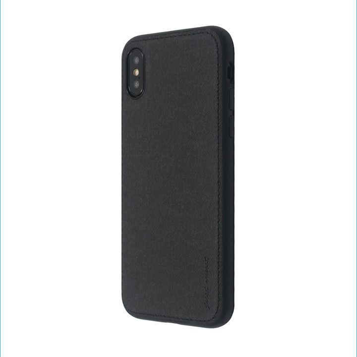 iPhone XS/X ケース 上質なファブリックとステッチがきいたハイブリッド背面ケース/Y EMPIRE 2018 ブラック iPhone XS/X_0