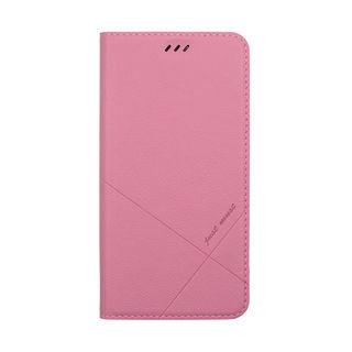【iPhone XSケース】マグネットでピタッと開閉 シンプルで超スリムなデザイン 手帳型ケース/X FLIP 2018 ピンク iPhone XS