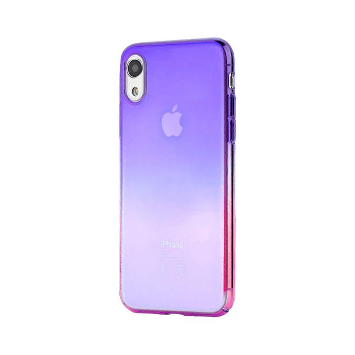 iPhone XR ケース オーロラのようにきらめく 繊細で美しいハードケース/Aurora Series Case 2018 紫/ローズレッド iPhone XR_0