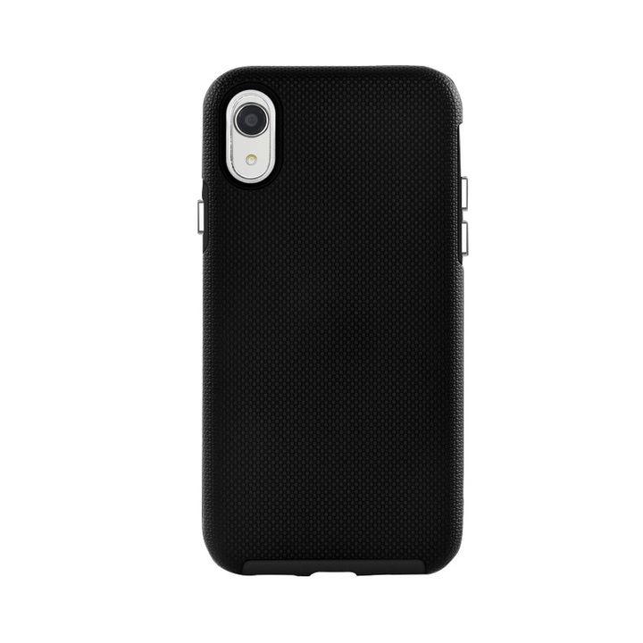 iPhone XR ケース 耐衝撃 丈夫でかわいい2ピース構造 ハードケース/King Kong case 2018 ブラック iPhone XR_0