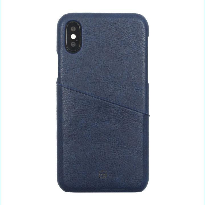 iPhone XS/X ケース アンティーク感ある合皮と味わい深いカラーがお洒落 ハードケース/ANTIQUE POCKET 2018 ネイビー iPhone XS/X_0