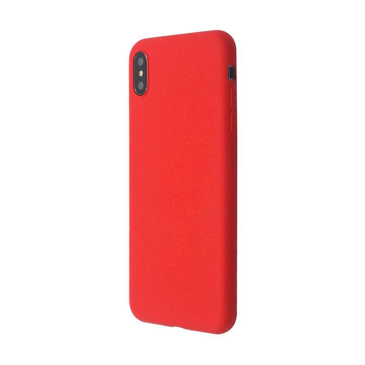 iPhone XS Max ケース 汚れに強い さらっとした肌触りのリキッドシリコンケース/EXTRA SLIM SILICONE レッド iPhone XS Max_0