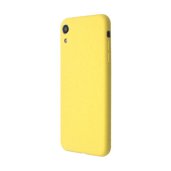 iPhone XR ケース 汚れに強い さらっとした肌触りのリキッドシリコンケース/EXTRA SLIM SILICONE イエロー iPhone XR_0