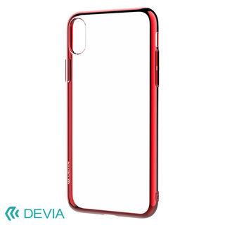 【iPhone XSケース】フレームメッキの差し色が映える 超薄型TPUケース/Glitter soft case(TPU) 2018 レッド iPhone XS【9月中旬】