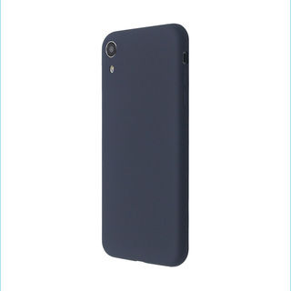 【iPhone XRケース】汚れに強い さらっとした肌触りのリキッドシリコンケース/EXTRA SLIM SILICONE ミッドナイトブルー iPhone XR