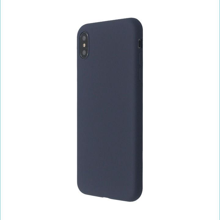 iPhone XS/X ケース 汚れに強い さらっとした肌触りのリキッドシリコンケース/EXTRA SLIM SILICONE ミッドナイトブルー iPhone XS/X_0