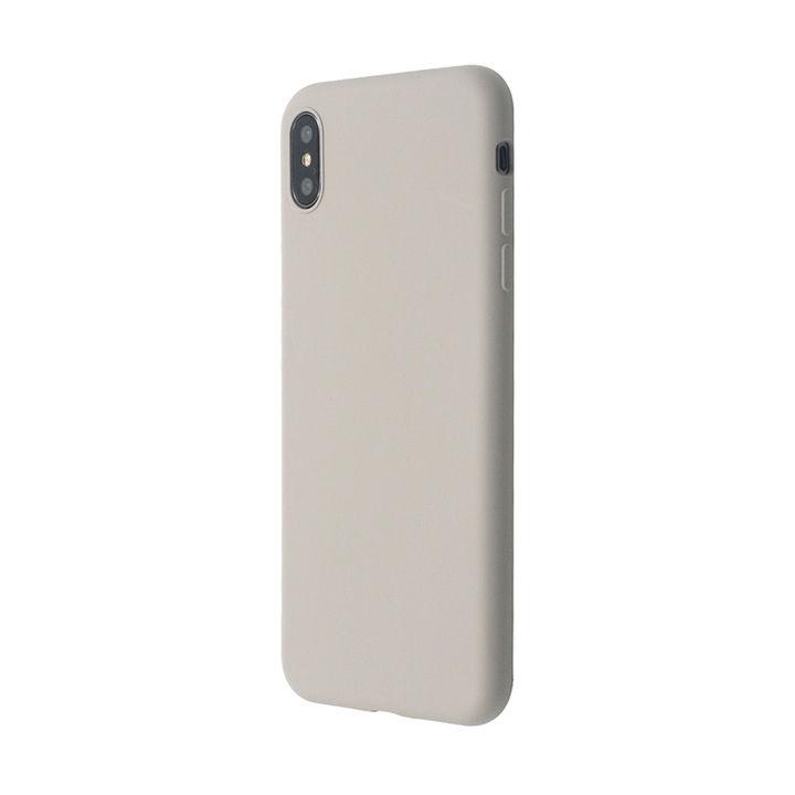 iPhone XS Max ケース 汚れに強い さらっとした肌触りのリキッドシリコンケース/EXTRA SLIM SILICONE ストーン iPhone XS Max_0