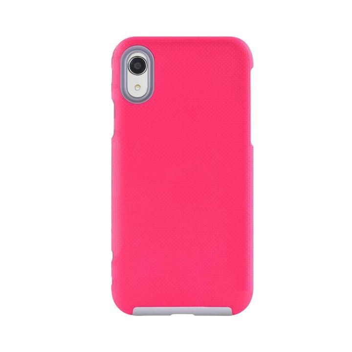 iPhone XR ケース 耐衝撃 丈夫でかわいい2ピース構造 ハードケース/King Kong case 2018 ローズレッド iPhone XR_0
