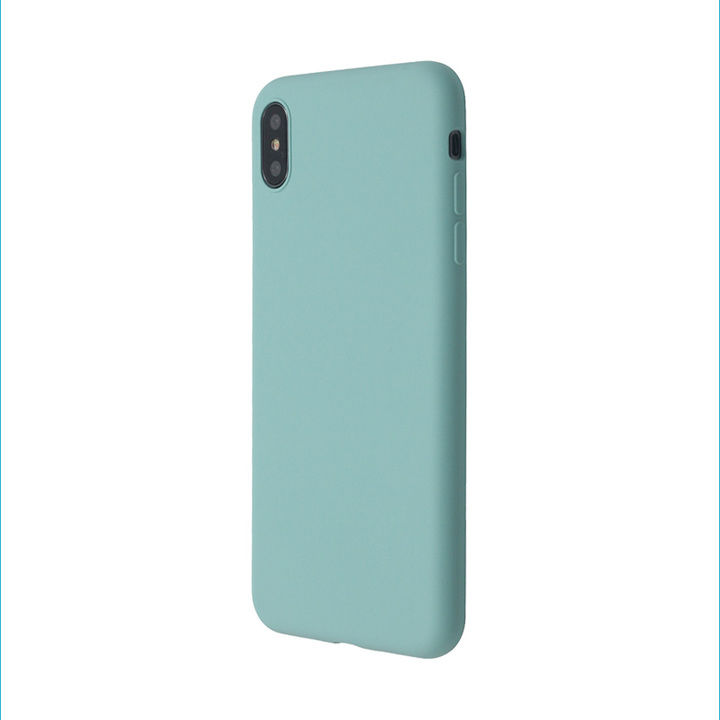 iPhone XS/X ケース 汚れに強い さらっとした肌触りのリキッドシリコンケース/EXTRA SLIM SILICONE シーブルー iPhone XS/X_0