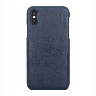 【iPhone XS/Xケース】アンティーク感ある合皮と味わい深いカラーがお洒落 ハードケース/ANTIQUE POCKET 2018 ネイビー iPhone XS/X