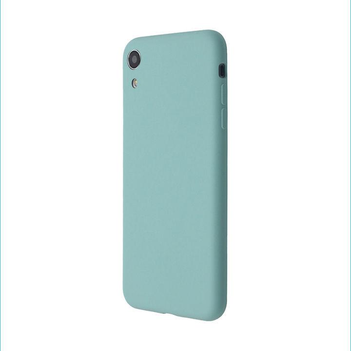 iPhone XR ケース 汚れに強い さらっとした肌触りのリキッドシリコンケース/EXTRA SLIM SILICONE シーブルー iPhone XR_0