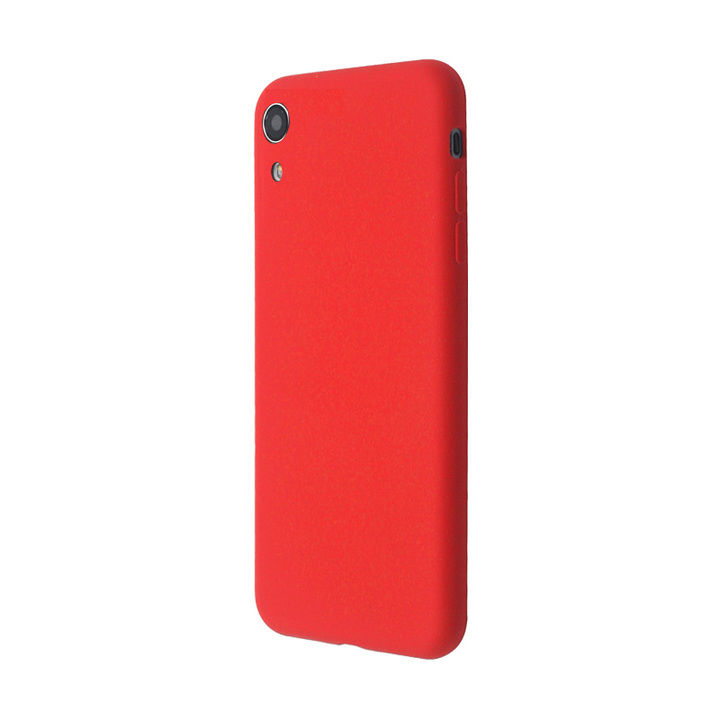 iPhone XR ケース 汚れに強い さらっとした肌触りのリキッドシリコンケース/EXTRA SLIM SILICONE レッド iPhone XR_0