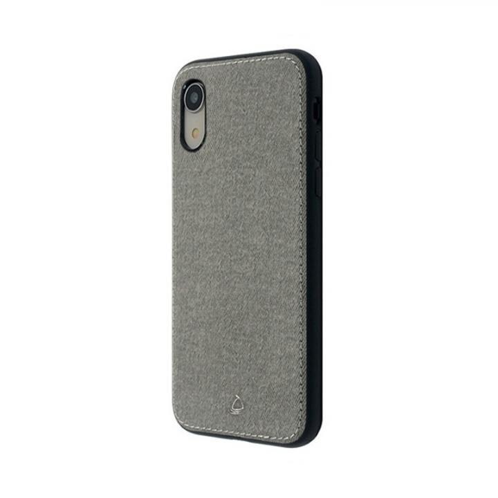 【iPhone XRケース】上質なファブリックとステッチがきいたハイブリッド背面ケース/Y EMPIRE 2018 グレイ iPhone XR_0