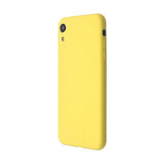 iPhone XR ケース 汚れに強い さらっとした肌触りのリキッドシリコンケース/EXTRA SLIM SILICONE イエロー iPhone XR