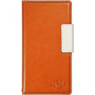 FLAMINGO 多機種対応PUレザー手帳型ケース オレンジ