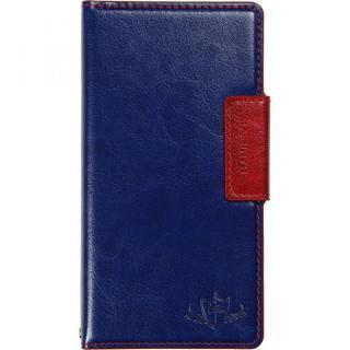 FLAMINGO 多機種対応PUレザー手帳型ケース ブルー