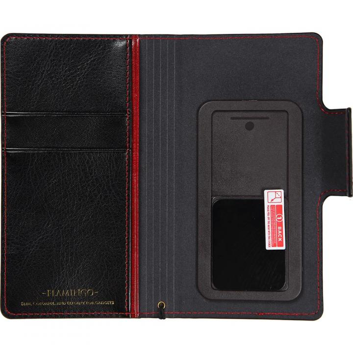 FLAMINGO 多機種対応PUレザー手帳型ケース レッド
