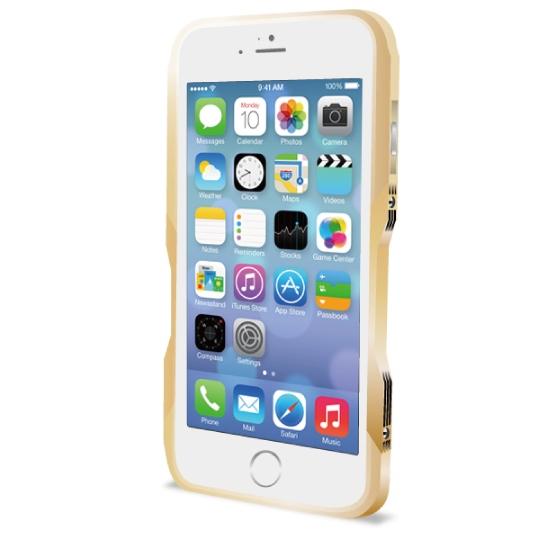 飽きることのないデザイン GRAVITY CASTRUM ゴールド iPhone 6バンパー