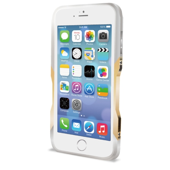 iPhone6 ケース 飽きることのないデザイン GRAVITY CASTRUM シルバー×ゴールド iPhone 6バンパー_0