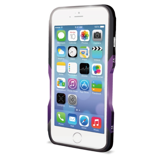 【iPhone6ケース】飽きることのないデザイン GRAVITY CASTRUM ブラック×パープル iPhone 6バンパー_0