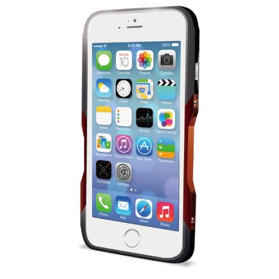 【iPhone6ケース】飽きることのないデザイン GRAVITY CASTRUM ブラック×レッド iPhone 6バンパー_0