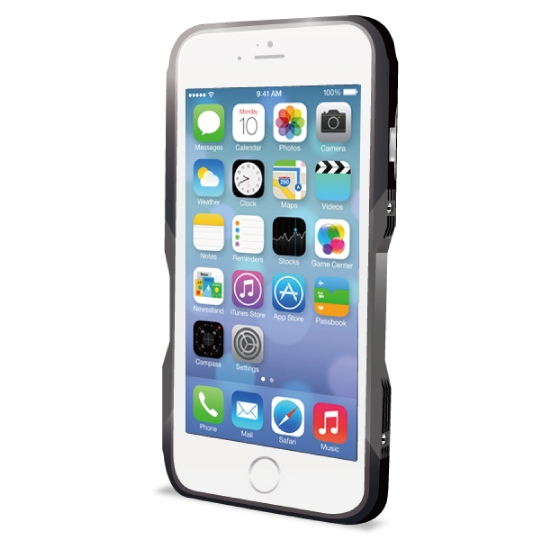 【iPhone6ケース】飽きることのないデザイン GRAVITY CASTRUM ブラック×グレー iPhone 6バンパー_0