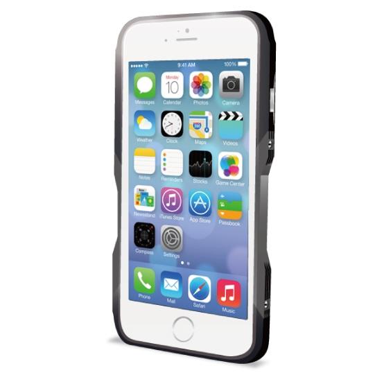 飽きることのないデザイン GRAVITY CASTRUM ブラック×グレー iPhone 6バンパー