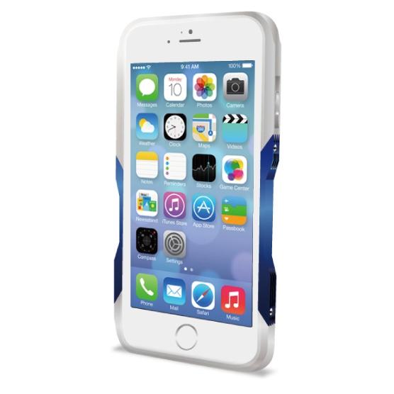 飽きることのないデザイン GRAVITY CASTRUM シルバー×ブルー iPhone 6バンパー