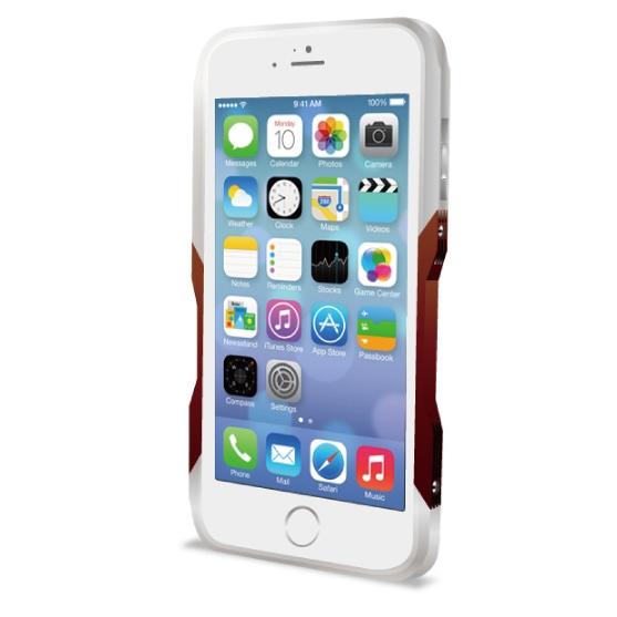 【iPhone6ケース】飽きることのないデザイン GRAVITY CASTRUM シルバー×レッド iPhone 6バンパー_0