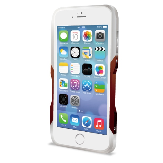 飽きることのないデザイン GRAVITY CASTRUM シルバー×レッド iPhone 6バンパー