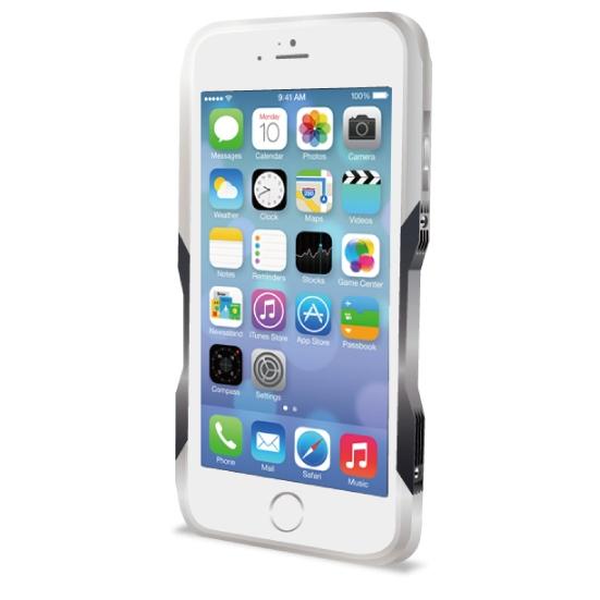 【iPhone6ケース】飽きることのないデザイン GRAVITY CASTRUM シルバー×グレー iPhone 6バンパー_0