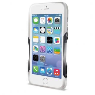【iPhone6ケース】飽きることのないデザイン GRAVITY CASTRUM シルバー×グレー iPhone 6バンパー