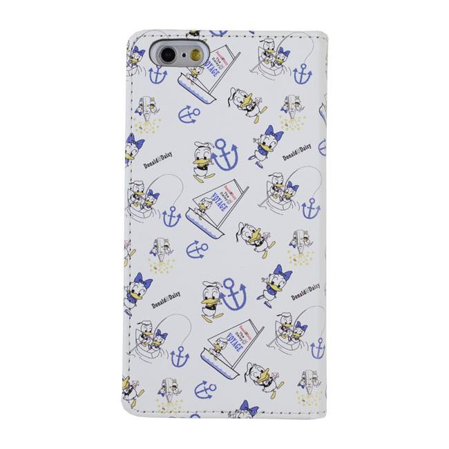 【iPhone6s/6ケース】Shinzi Katoh × Disneyコラボ 手帳型ケース ドナルド ホワイト iPhone 6s/6_0