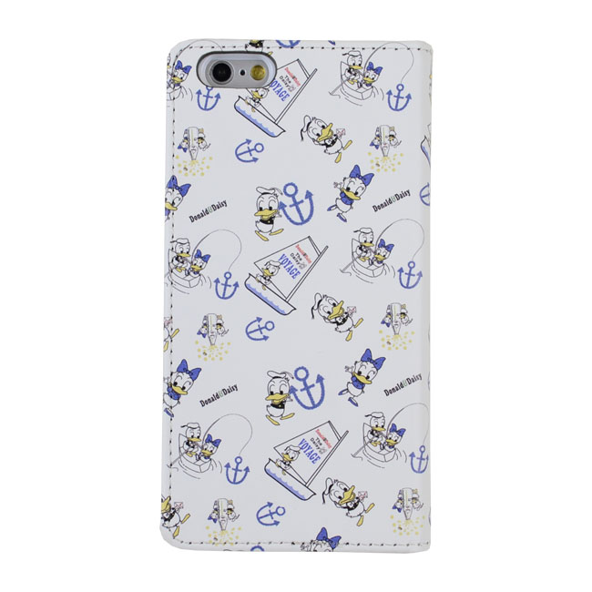 Shinzi Katoh × Disneyコラボ 手帳型ケース ドナルド ホワイト iPhone 6s/6