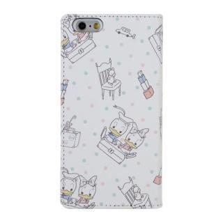 Shinzi Katoh × Disneyコラボ 手帳型ケース ドナルド&デイジー ドット総柄 iPhone 6s/6