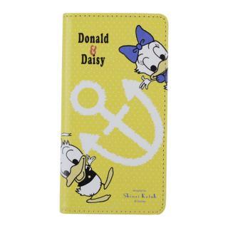iPhone6s/6 ケース Shinzi Katoh × Disneyコラボ 手帳型ケース ドナルド&デイジー Yellow iPhone 6s/6