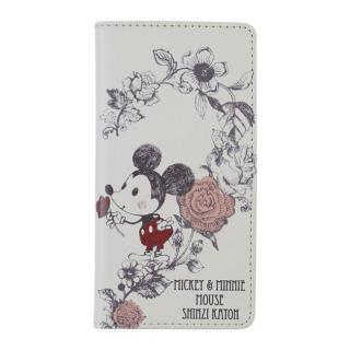 iPhone6s/6 ケース Shinzi Katoh × Disneyコラボ 手帳型ケース ミッキー&ミニー ハート iPhone 6s/6