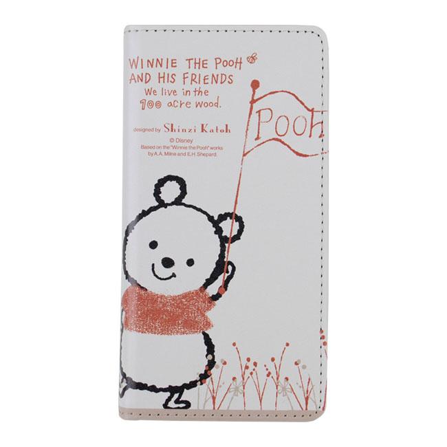 Shinzi Katoh × Disneyコラボ 手帳型ケース くまのプーさん フラッグ iPhone 6s/6