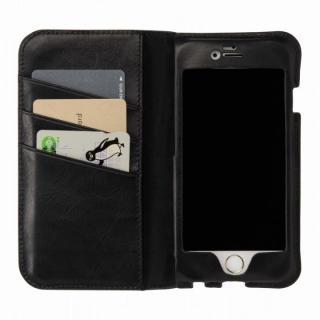 【iPhone6s/6ケース】本革製手帳型ケース FIT オールブラック iPhone 6s/6_0