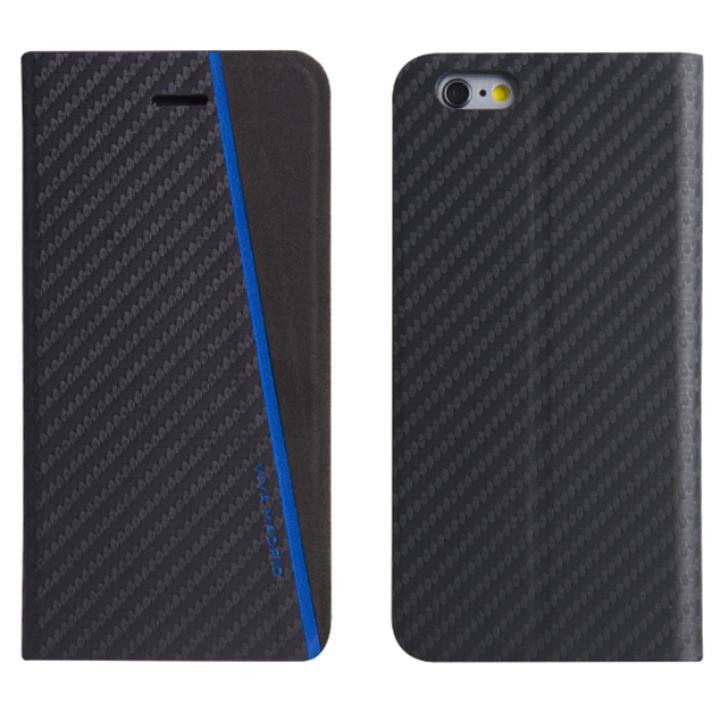 【iPhone7ケース】PUレザー手帳型ケース Grafito Racha ブルー iPhone 7_0