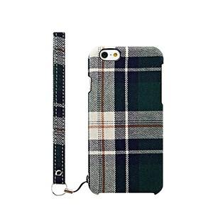 ファブリックケース [NUNO] グリーンチェック iPhone 6s